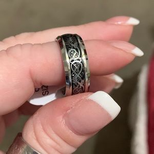Other - Amazing! Celtic Titanium ring w/ silver inlay! NWT